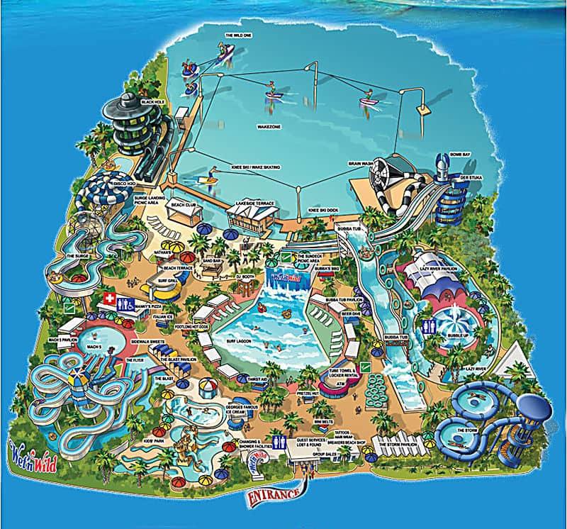 Wetn Wild Orlando Mapa do Parque