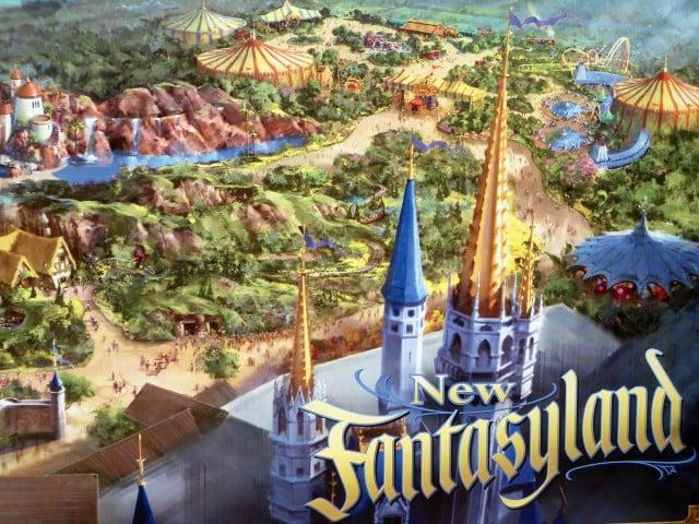 Área Fantasyland no parque Disney's Magic Kingdom