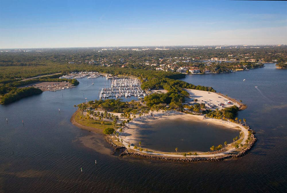 Praia do Matheson Hammock em Miami