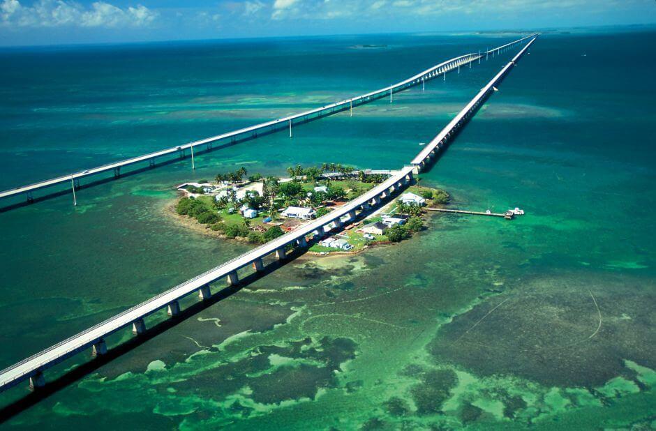 Estrada para Key West Florida