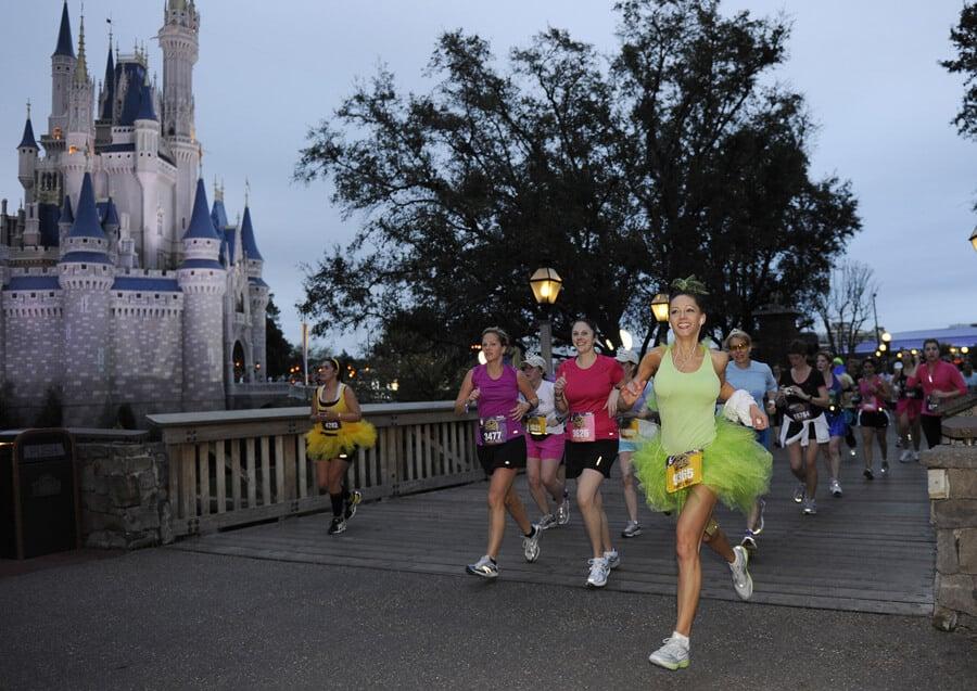 A corrida meia maratona das princesas na Disney