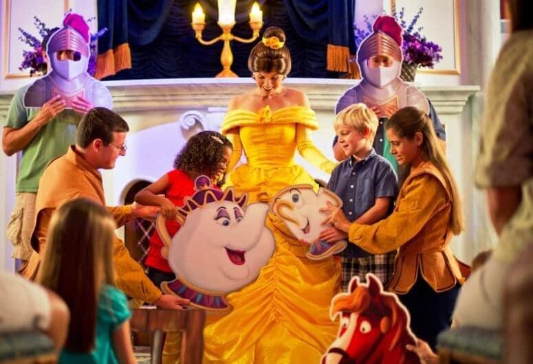 Atrações da Bela e a Fera na Disney