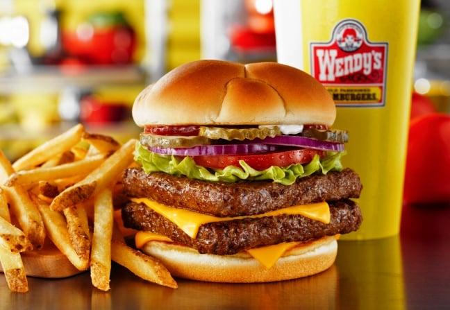 Lanchonete Wendy's - O famoso hambúrguer quadrado