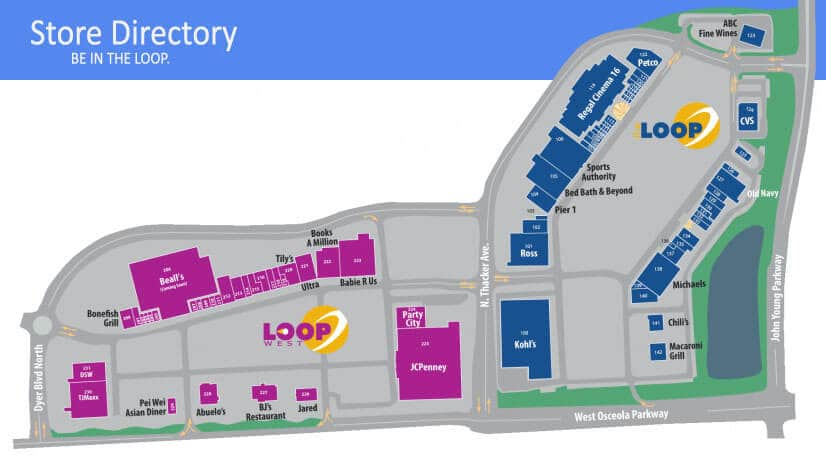 Informações do Outlet The Loop e Loop West em Kissimmee