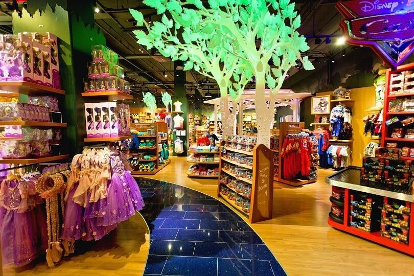 Como são as lojas Disney Store em Orlando e Miami