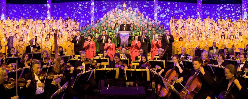 Comemorações de Natal no Epcot em Orlando