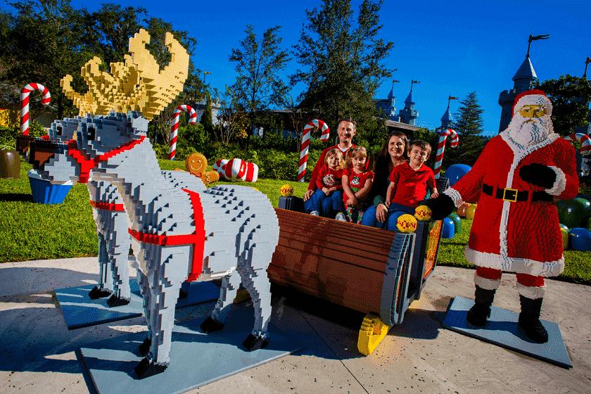 Natal no parque Legoland