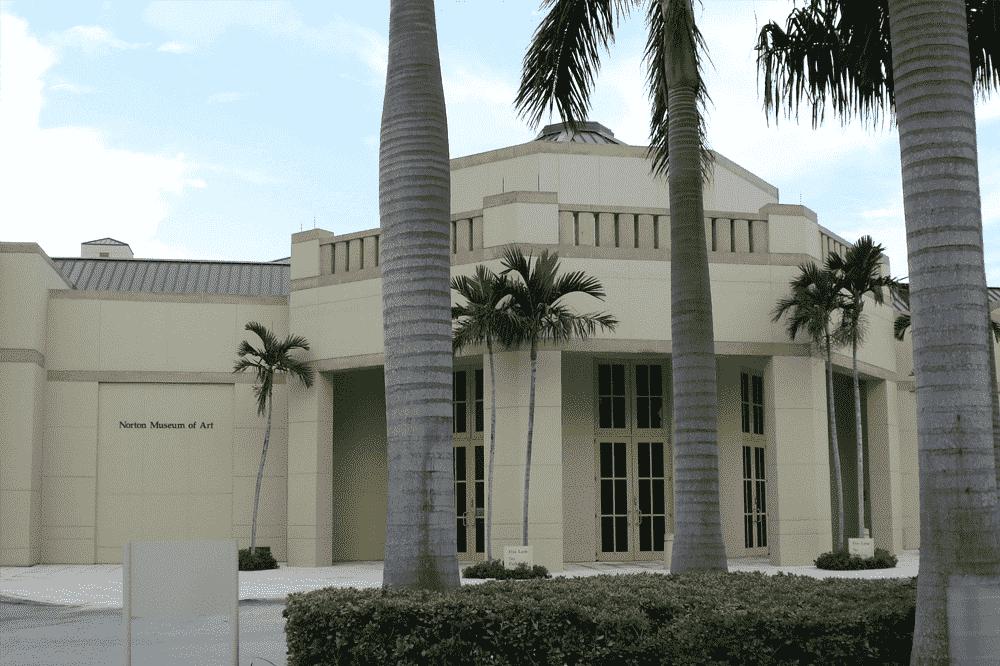 Norton Museum of Art em Palm Beach Florida - Fachada