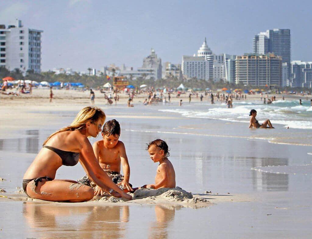 Miami com crianças e filhos: praias