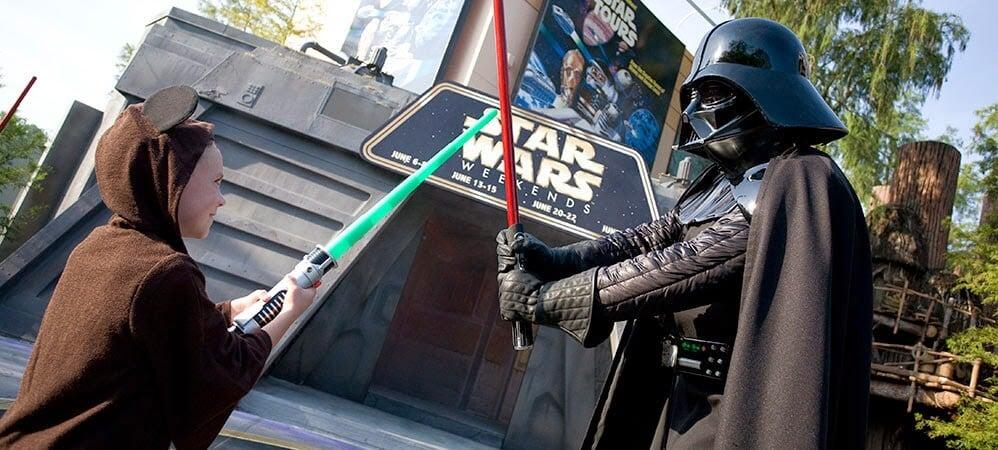 Darth Vader no Trainamento Jedi do Star Wars na Disney em Orlando