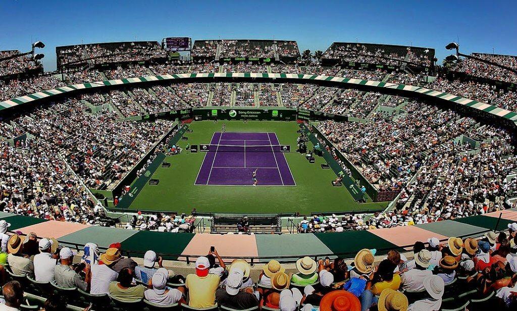Quadra do Miami Open - Torneio de Tênis