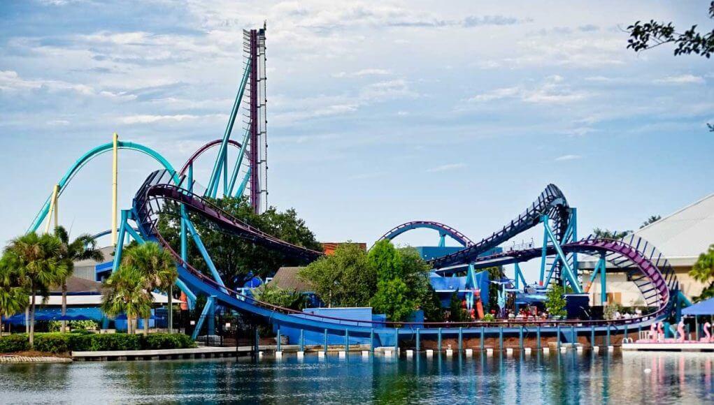 Trajeto da Mako: montanha-russa do SeaWorld Orlando de 2016