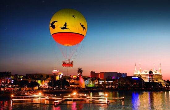 Passeio de balão na disney Lua de Mel