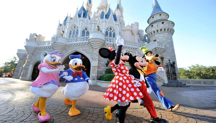 Personagens no parque Disney Magic Kingdom