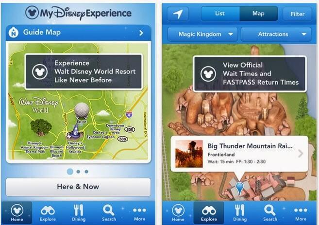 Aplicativos dos parques de diversões em Orlando