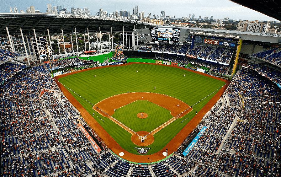 Jogos de baseball com o Miami Marlins