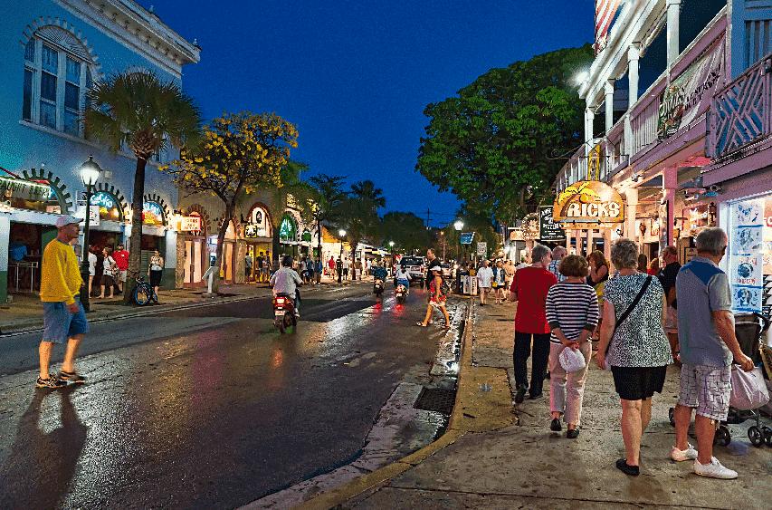 Duval Street em Key West em Miami