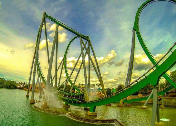 Montanha-russa do Hulk em Orlando