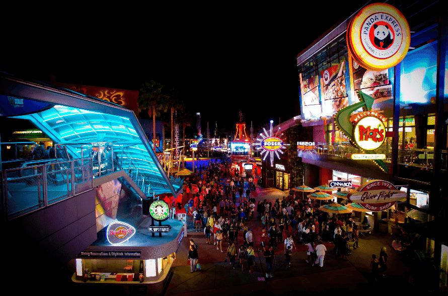 Universal's CityWalk e Portofino Bay Boat Ride em Orlando