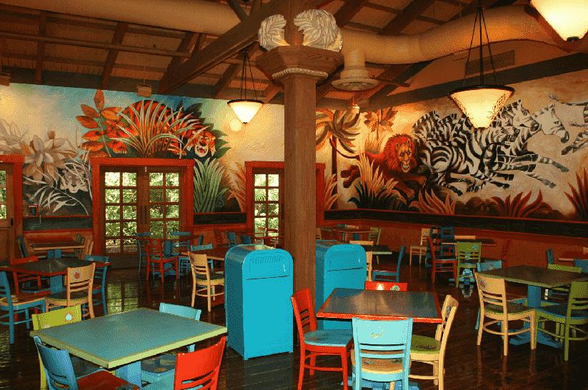 Restaurante Pizzafari no Animal Kingdom em Orlando