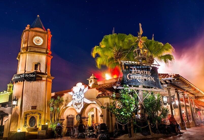 Pirates of the Caribbean no Magic Kingdom em Orlando