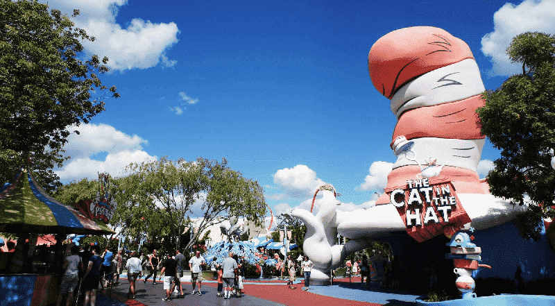 The Cat in the Hat no Islands Of Adventure em Orlando