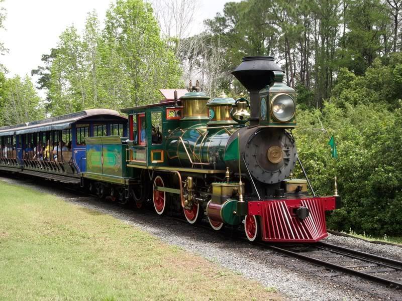 Walt Disney World Railroad no Magic Kingdom em Orlando