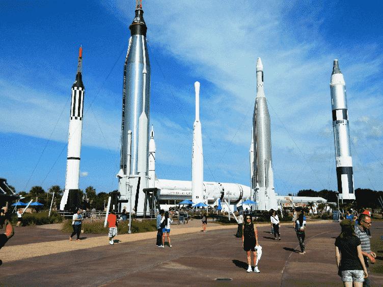 Rocket Garden no Kennedy Space Center em Orlando