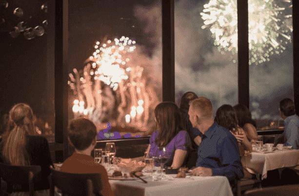 Restaurantes de resorts na Disney em Orlando no ano novo