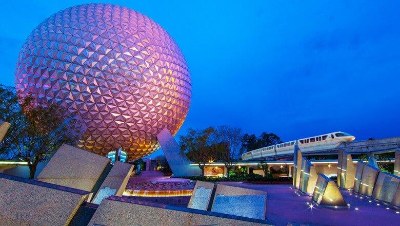 Parque Epcot na Disney em Orlando