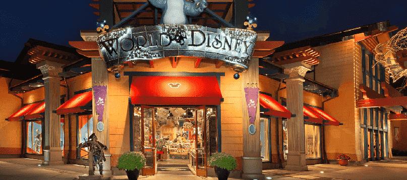 Loja World of Disney no Disney Springs em Orlando