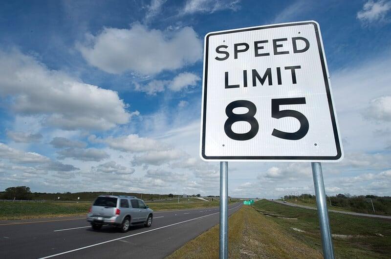 Limites de velocidade na Flórida