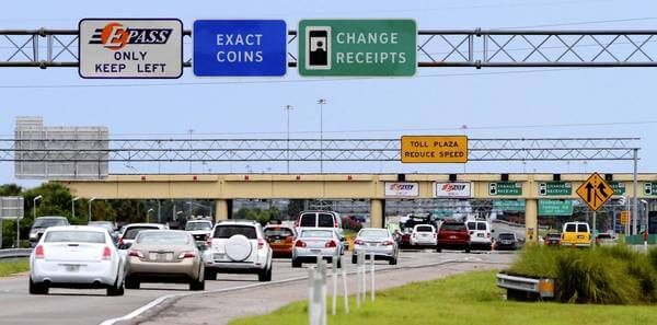 Pedágios com o carro alugado no aeroporto em Miami