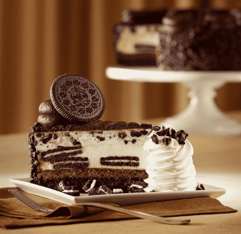 Bolo do Cheesecake Factory em Miami e Orlando