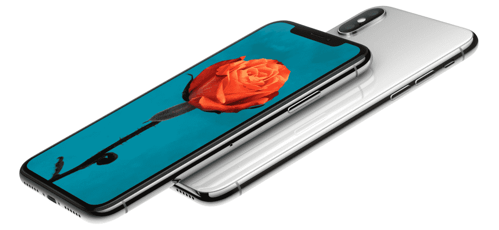 Frente e verso do iPhone X da Apple