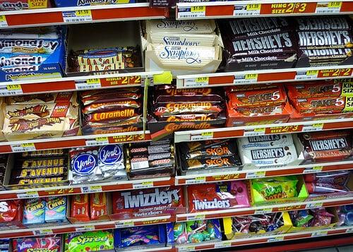 Doces nos supermercados Walmart e Target em Orlando