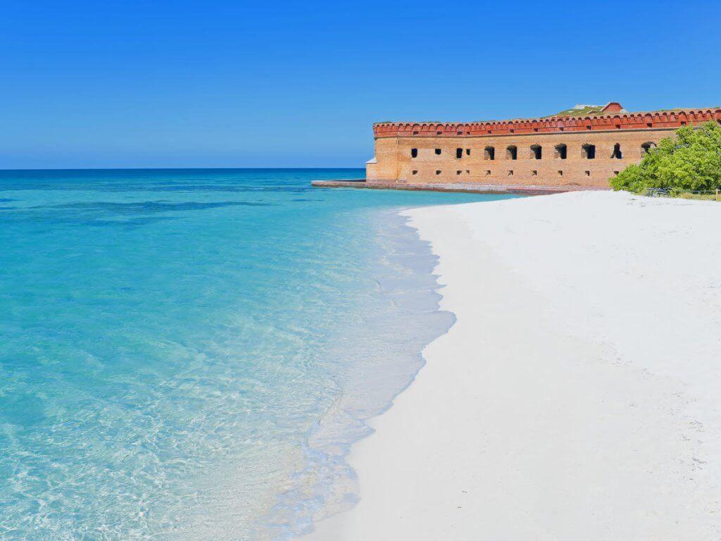 Praia de Key West na Flórida