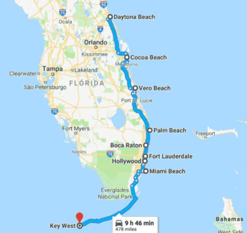 Roteiro de carro pelas praias da costa leste da Flórida