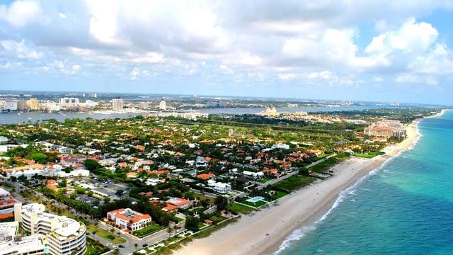 Litoral de Palm Beach na Flórida