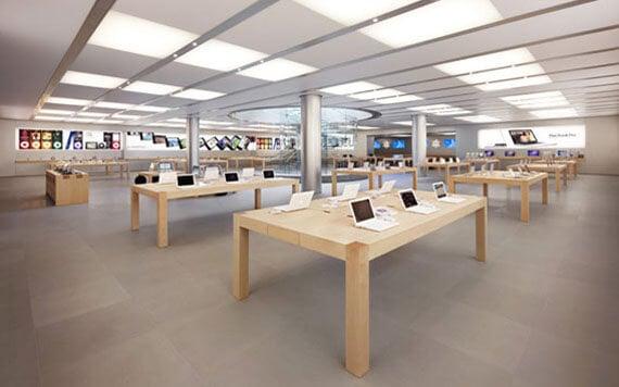 Visitando uma das lojas da Apple