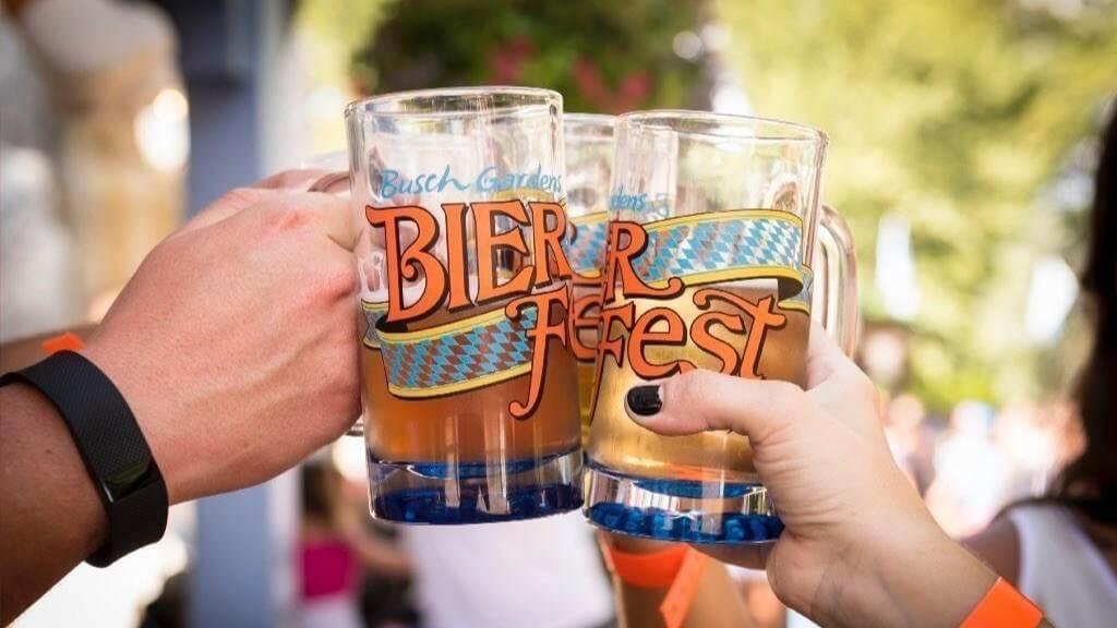 Cervejas do Bier Fest no Busch Gardens