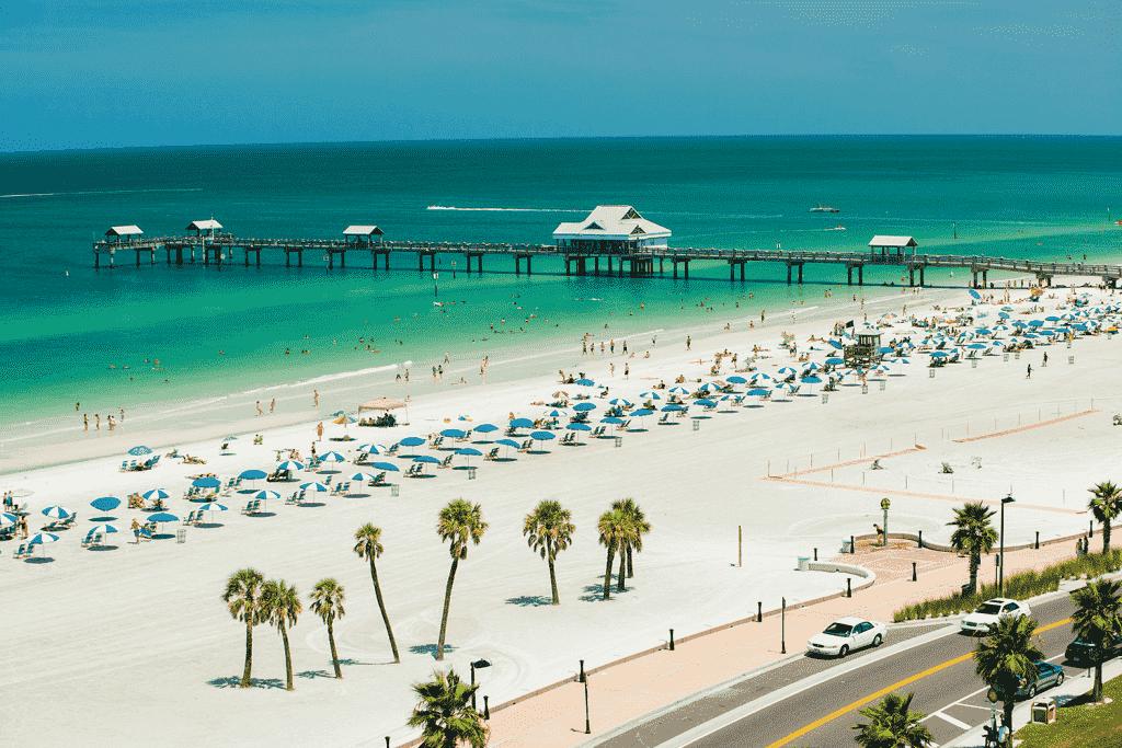 Cidades legais perto de Orlando: Clearwater Beach na Flórida
