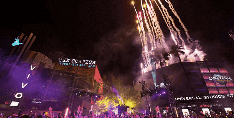 Ano-novo nos parques Universal