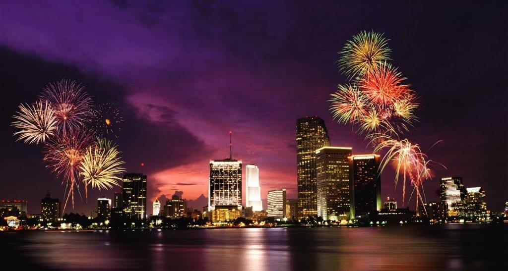 Ano-novo em Miami em 2018