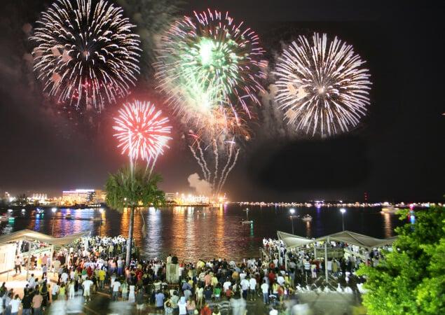 Ano-novo do Bayfront Park Miami com show do Pitbull