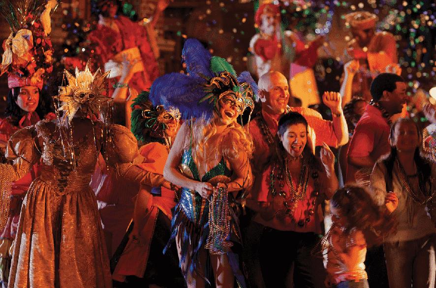 Mardi Gras na Universal Studios em Orlando