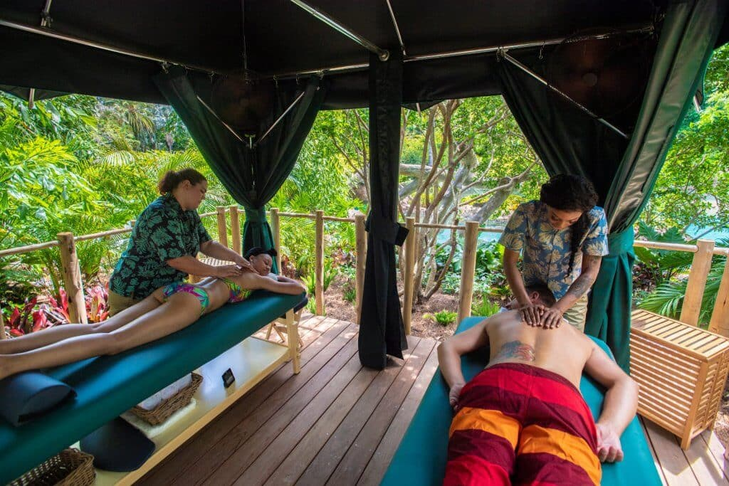 Massagem e encontro com animais no Discovery Cove: Massagem no Discovery Cove