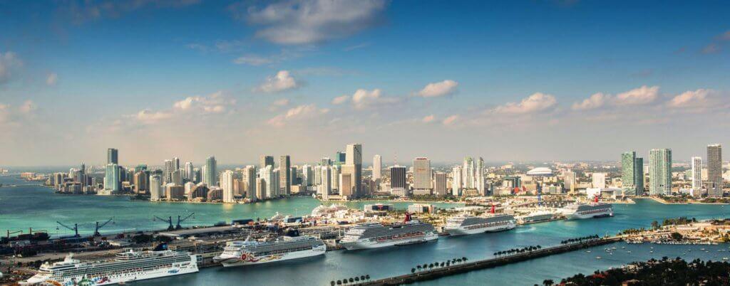 Paisagem PortMiami: o porto de Miami