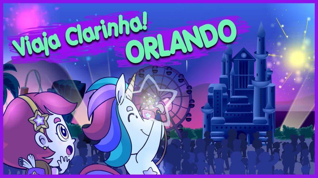 Desenho infantil Viaja Clarinha em Orlando
