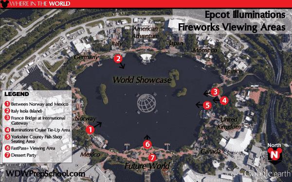 Mapa Disney Epcot - IllumiNations: Reflections of Earth
